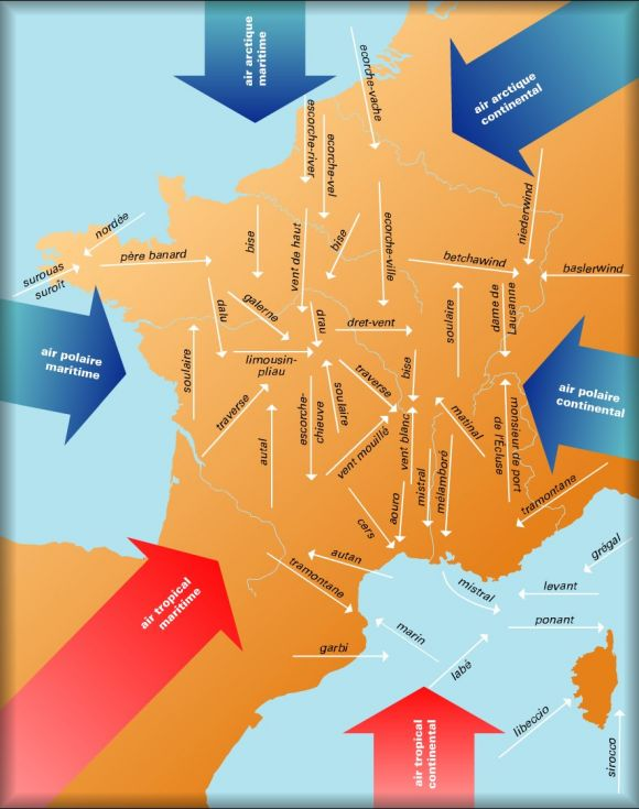 Carte des vents